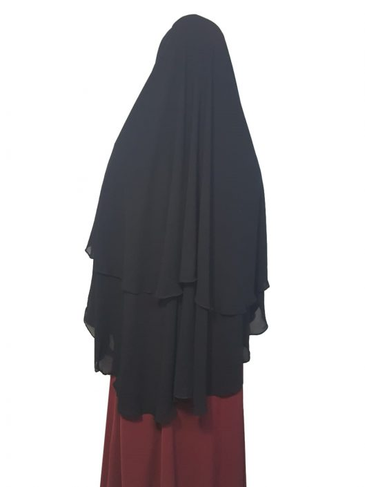 Double-Layer-Khimar-Button-Fastening